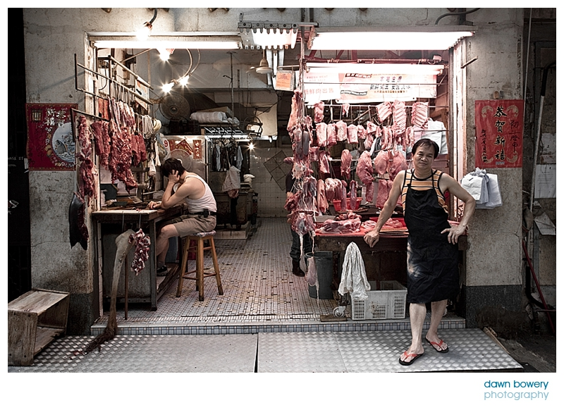 china street photographer hong kong butcher