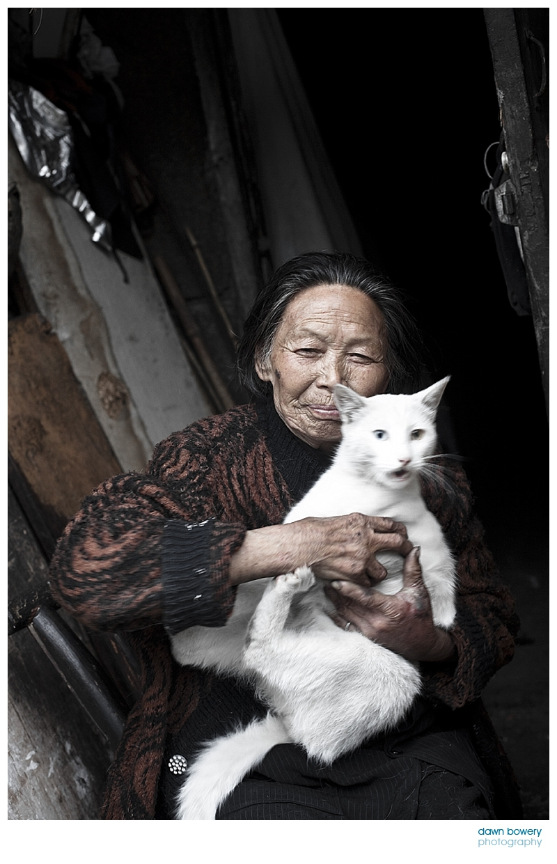 china fine art photography cat woman