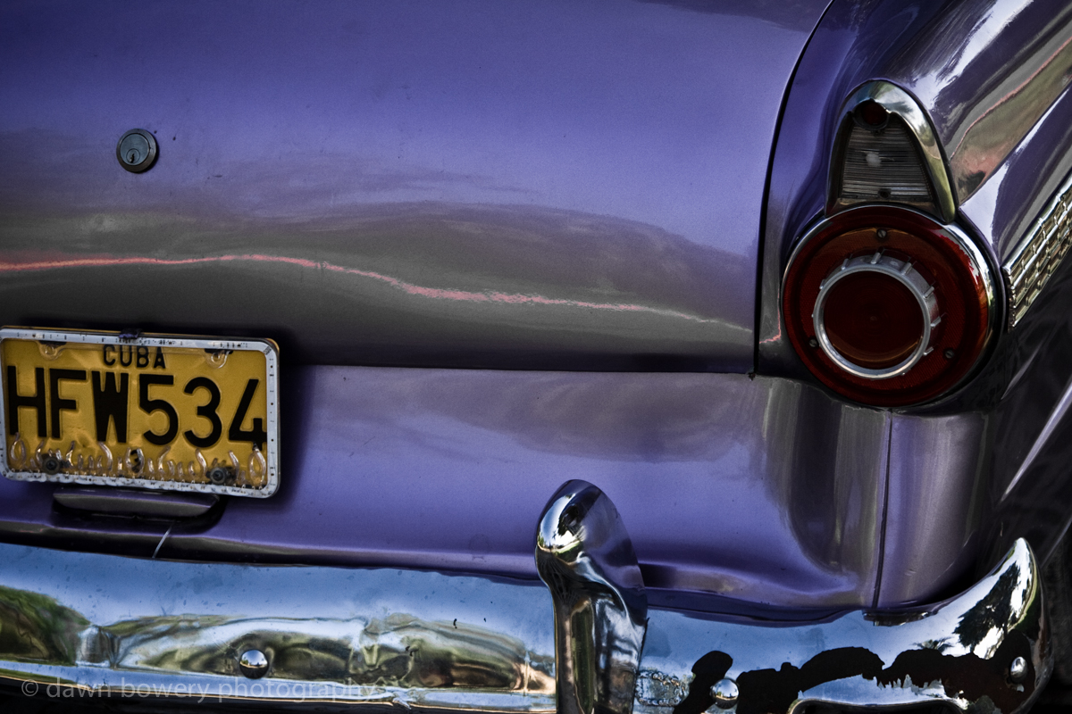 purple cuban car license plate