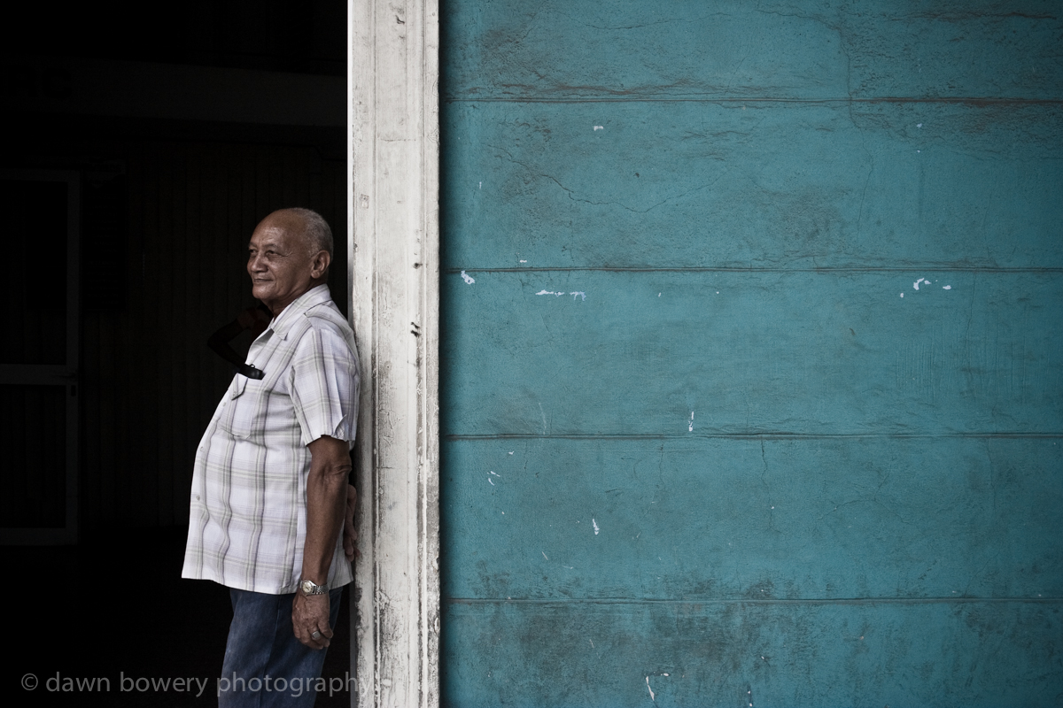 Cuba man in doorway