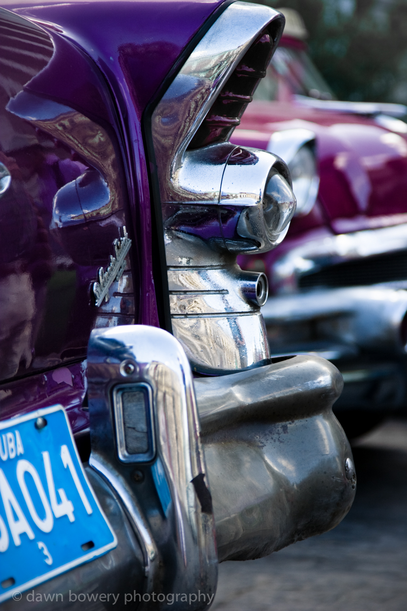 Purple cuban car chrome