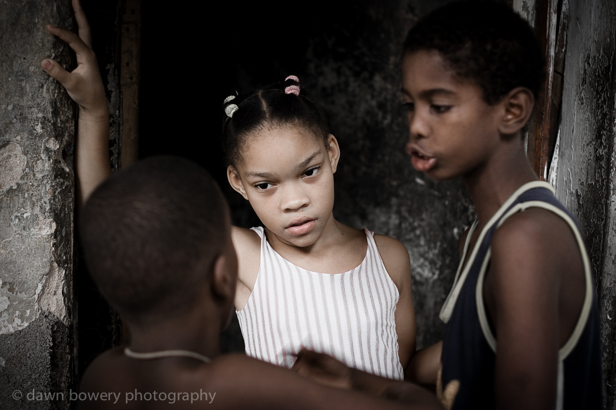 cuban kids chatting portrait